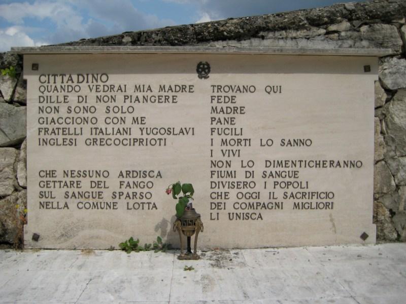 Lapide cimitero di Pozza