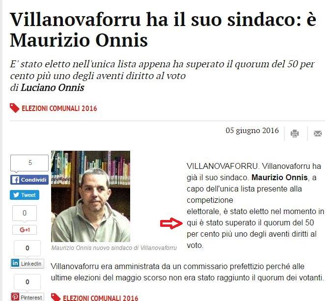 Sindaco Onnis