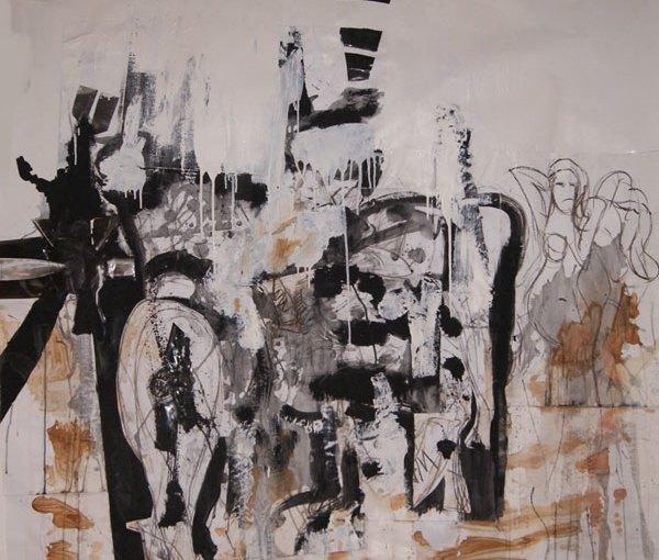 collage, Robert Pennekamp, gemengde technieken, catwalk, mooie, vrouwen, meiden, papier, babe, babes, model, modellen, tekenen, model tekenen, abstract