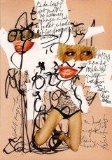 collage 3, Robert Pennekamp, A4 formaat, 2005, babe, model, tekst, benen, chantal janzen, sexy