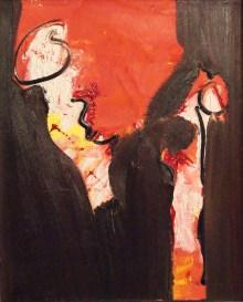 zeg hallo, 287, kleuren, rood, oranje, roze, geel, abstract, figuratief, schilderij, robert, pennekamp, robert pennekamp, lekker, heerlijk, fijn, mooi, aarde