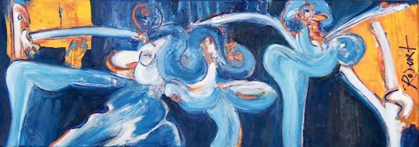 dansen, dansend, dans, ohjee, oje, oh, tjee, robert pennekamp, robert, pennekamp, schilderij, painting, dancing, oil, canvas, 291, blue, people, dancers