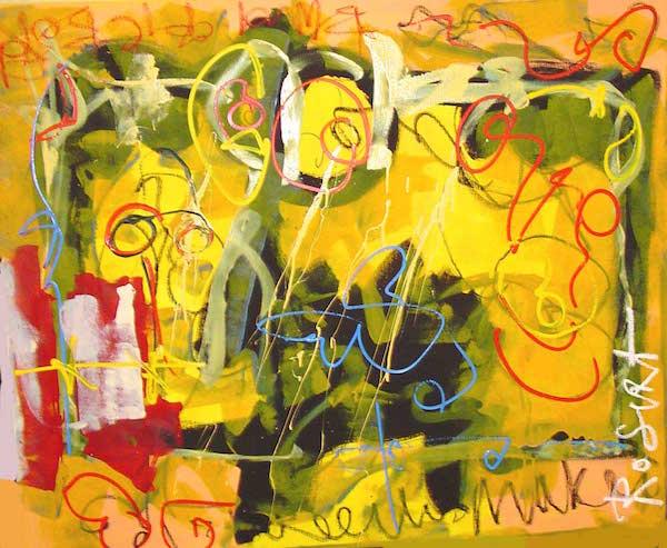 Blind, bord, Robert, Pennekamp, Robert pennekamp, olieverf, linnen, painting, oil, schilderij, 478, gemengde technieken