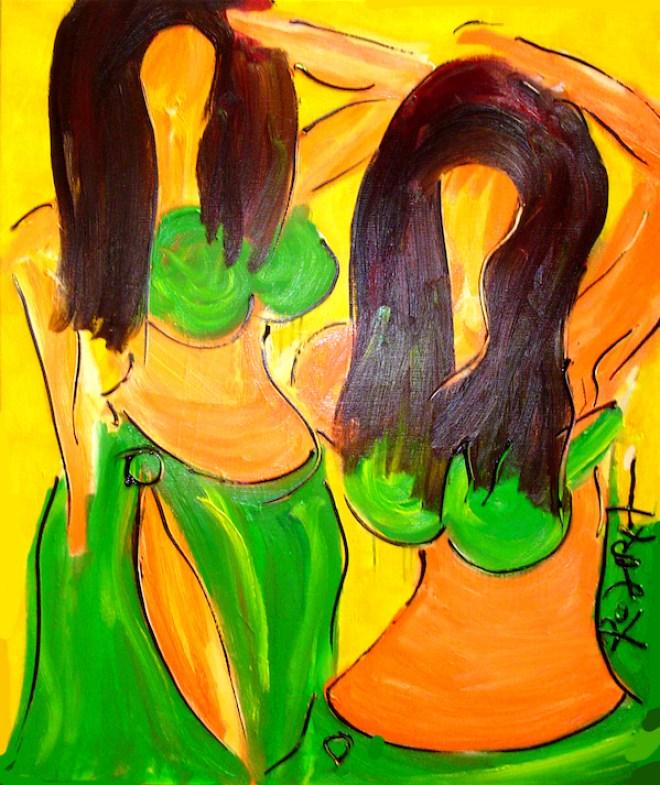Bellydance Art Experience, buikdans, buikdanswinkel, robert, pennekamp, belly dance, buikdanseres, amsterdam, schilderij, olieverf, linnen, beweging, toppers, 619, top, graag