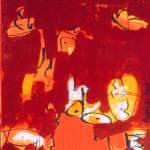 Snelle Willy, 170, Robert Pennekamp, gemengde technieken op doek, acryl, streefart, cartoon, strip, rood, oranje, geel