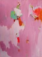 Zag je staan lieverd, gemengde technieken, roze, Robert, Pennekamp, Robert pennekamp, olieverf, linnen, painting, oil, schilderij, 707