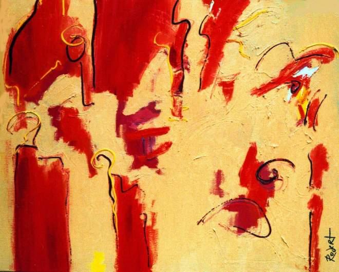 schilderij, kunst, kunstwerk, olieverf, abstract, expressief, kleuren, crème, cowboy, wild, wilder, gaaf, mooi, leuk, bijzonder, bank, prijs, winnaar, beste, kunstbeurs, moderne kunst, robert, pennekamp, vier ,maal, graag, 121