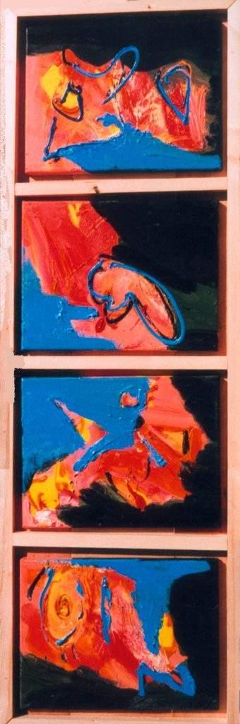 verticaal, lengte, breedte, smal, hoog, schilderij, vorm, pilaar, doek, canvas, contemporary art, robert, pennekamp, omdraaien, abstract, figuratief, mogelijkheid, draaien, smalle, paskamer, kort
