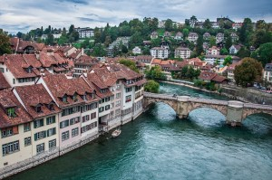 Houses and bridge
