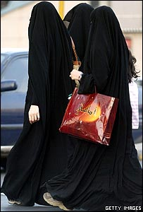 Saudi Women in Full Veils