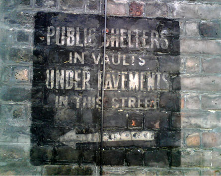 Public Shelter in Vaults under pavement in this street