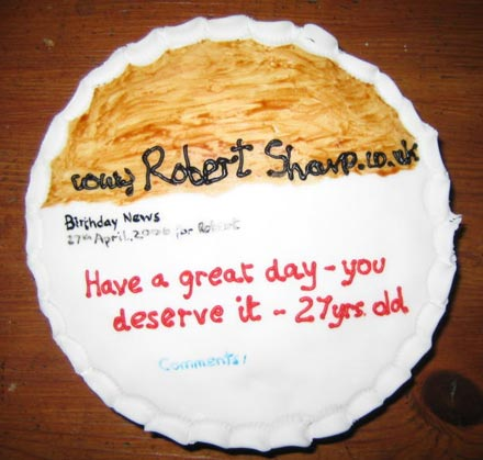 My blog in cake form