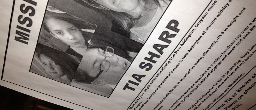 Tia Sharp Missing Poster