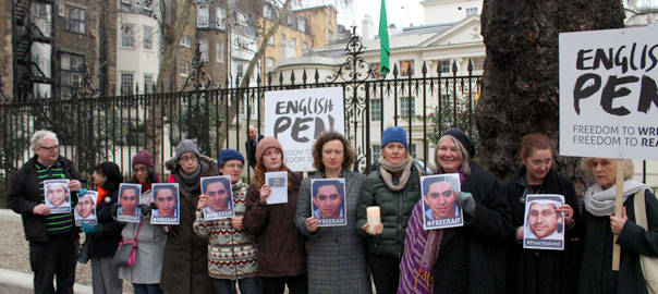 Vigil outside the Saudi Embassy, London