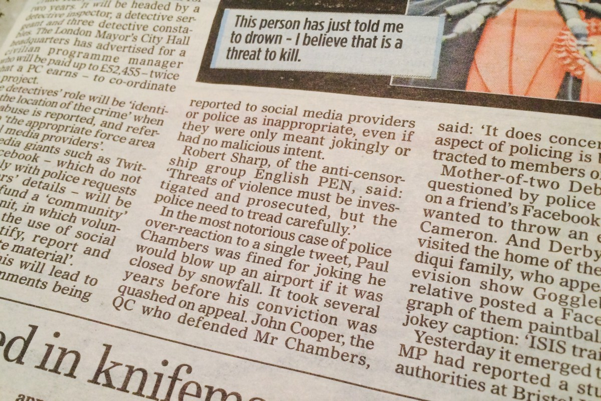 Quoted in the Mail on Sunday