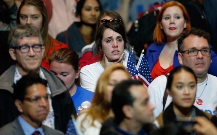 Hillary Clinton supporters, 8 November 2016