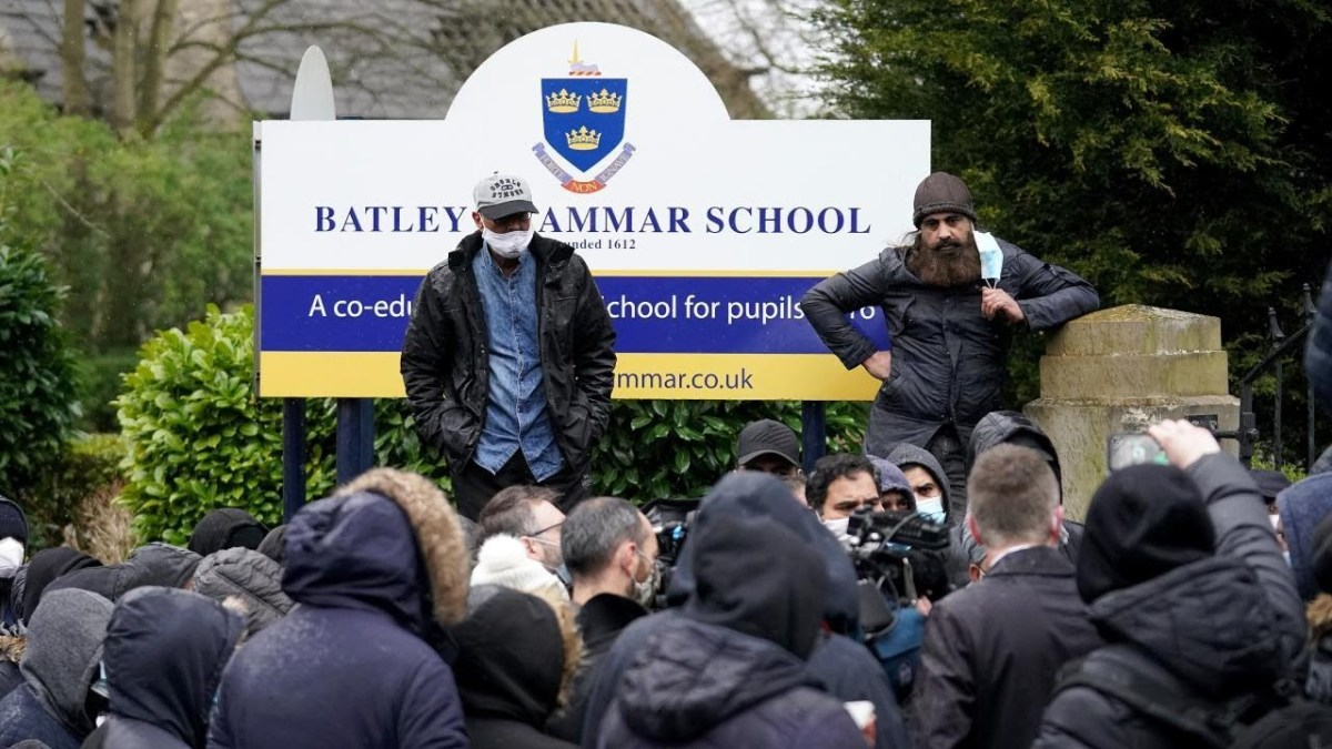 Protest at Batley Grammar School
