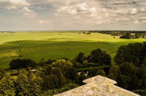 Uitzicht vanaf grote kerk Elburg