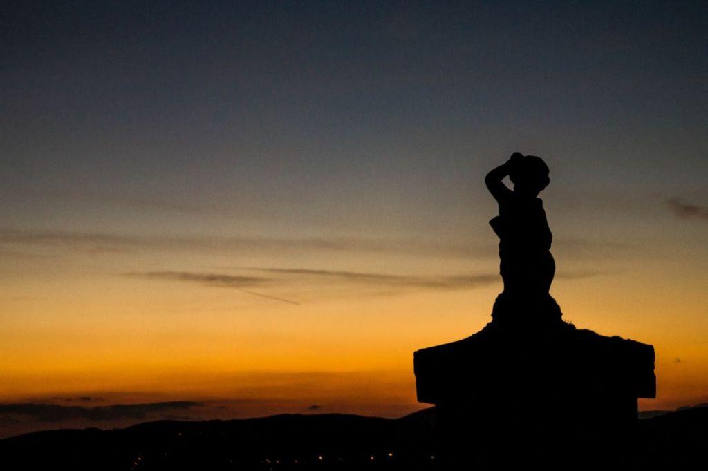 San Donato in Fronzano, Podere i Sorbi , entree bij zonsondergang