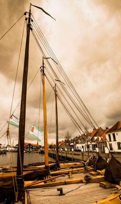 Haven Elburg met vissersboten
