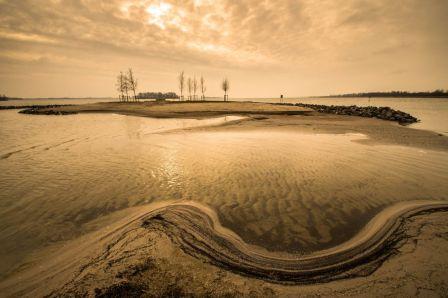 Veluwemeer, strand Biddinghuizen