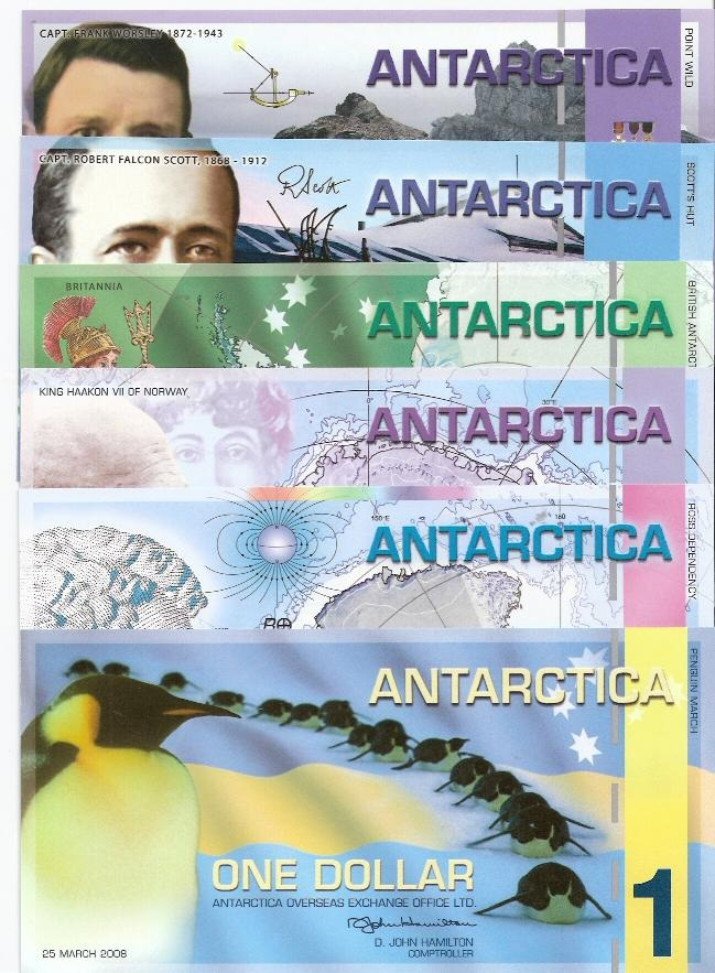 Antarctica 1-20 Dollar Set