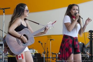Hannah and Natasha Fisher performed at the main stage.