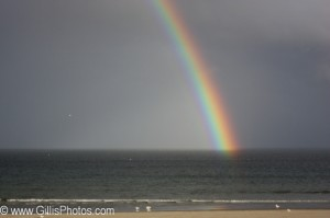 No, this is not the rainbow I saw that day back in 2001 – this one appeared while we were walking on Wells Beach years later – and this time, I had my camera with me!