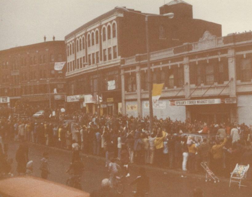 Pope John Paul II, Uphams Corner, Dorchester Mass, 10/1/1979, Robert Gillis photo