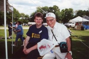 Bob Gillis and Bob Shea, Founders Day, 2001