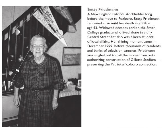"""Betty Friedman, image from the book, """"Legendary Locals of Foxborough"""" by Jeffrey Peterson"""