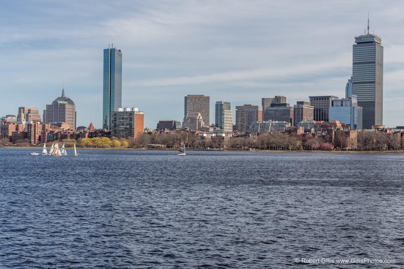 Boston from the Harvard Bridge / Massachusetts Avenue