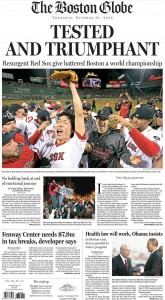 Red Sox Win the World Series - Boston Globe Photo