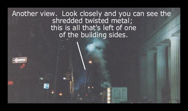 Ground Zero Across from the World Trade Center September 22, 2001 photo by Robert Gillis