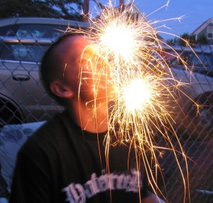 DO NOT ATTEMPT – Putting lit sparklers in your mouth can result in all kinds of health issues, not limited to third degree burns, loss of sight, loss of nose, and limited options on Prom Night.