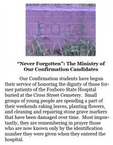 Saint Marys Church Foxboro Bulletin. November 3, 2013