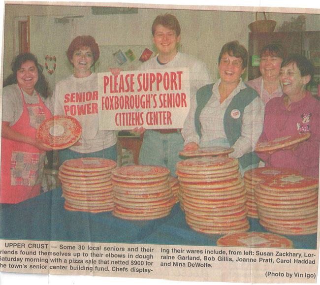 One of the MANY fundraisers for the senior center; this was was a lot of fun as we spent a day making over 900 pizzas!