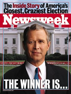 Cover of Newsweek Magazine, November 20, 2000.  Copyright Newsweek.