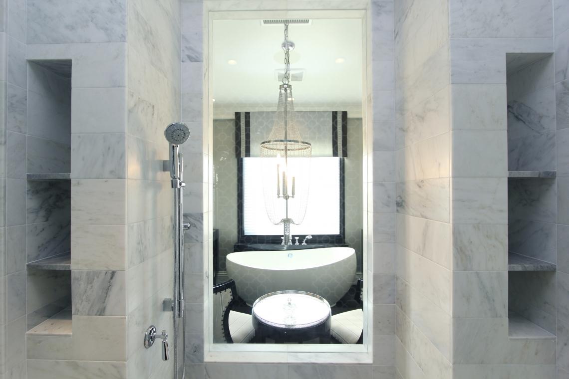 Hamptons Inspired Luxury Master Bathroom Robeson Design