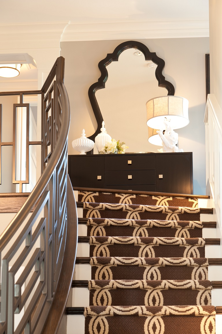 Hamptons Inspired Luxury Home Entry Robeson Design San