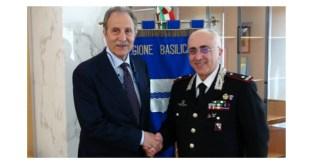 Il Presidente della Regione Basilicata incontra il Comandante della Legione Carabinieri – Video