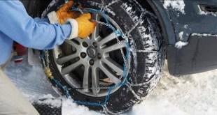 A bordo veicoli al via l'obbligo di catene o pneumatici invernali