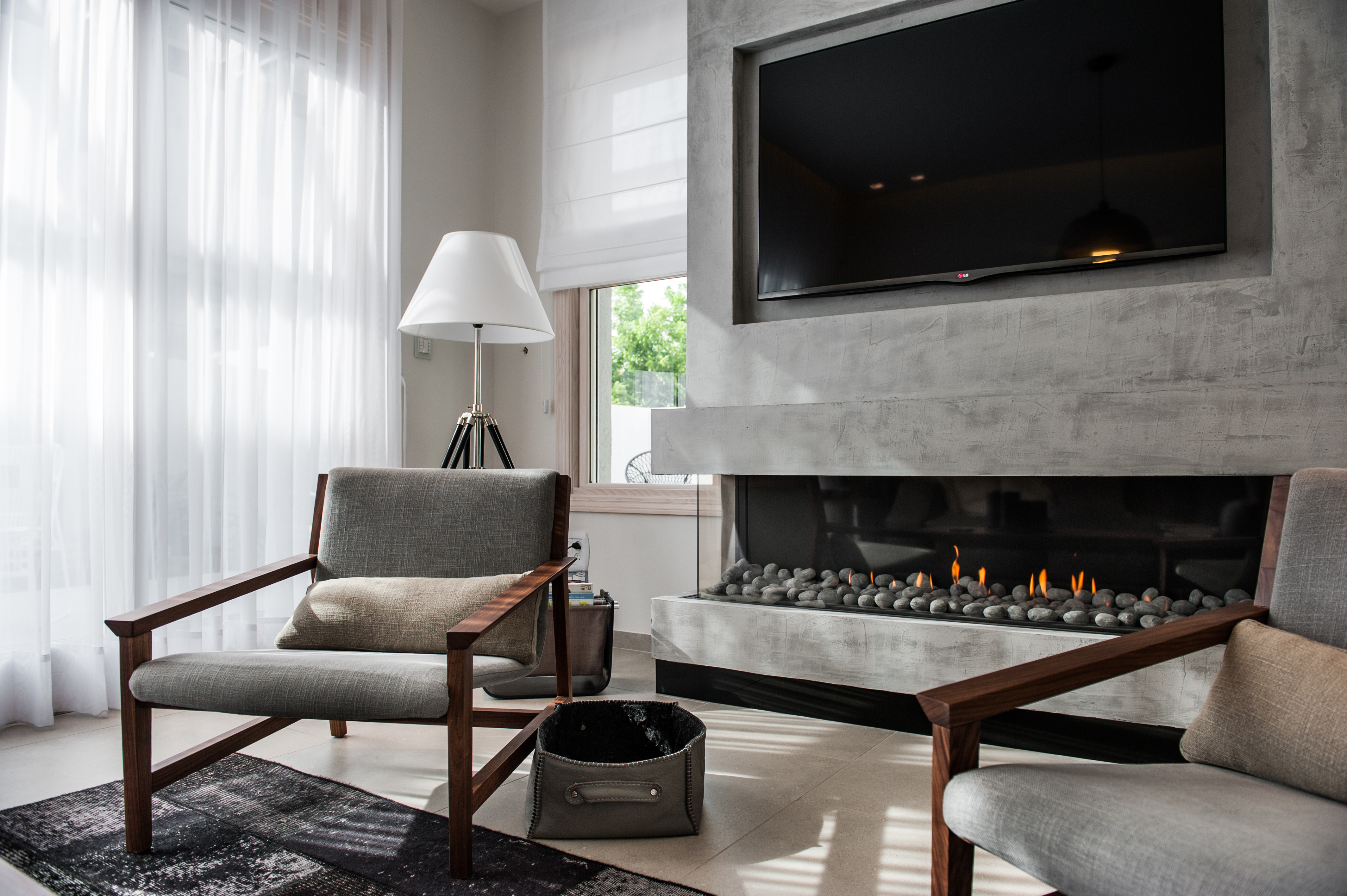 Ortal Clear Ts 200 Three Sided Glass Gas Fireplace From Robeys