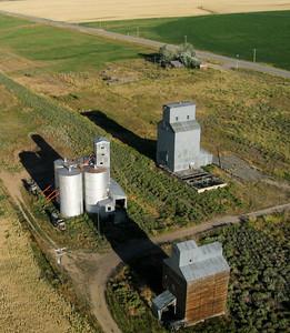 Grain Elevators and silos. Idaho Agriculture near the Sawtooth National Recreation Area.