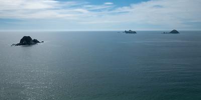 Offshore islands. Low-level aerial photograph. Playa El Palmar, Ixtapa, Mexico.