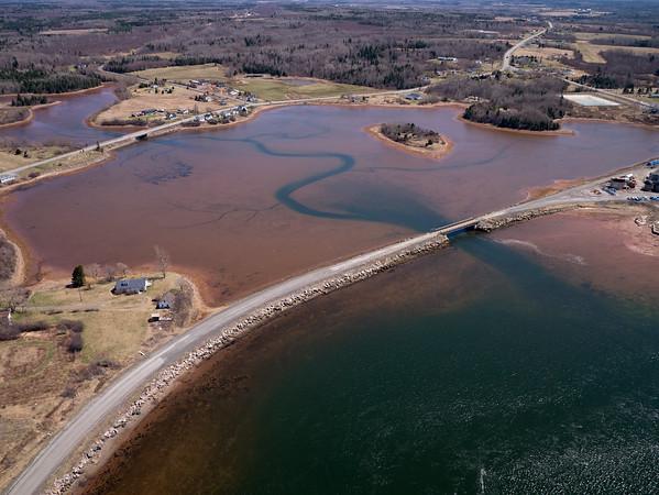 Aerial photograph. Pugwash Basin - Pugwash, Nova Scotia