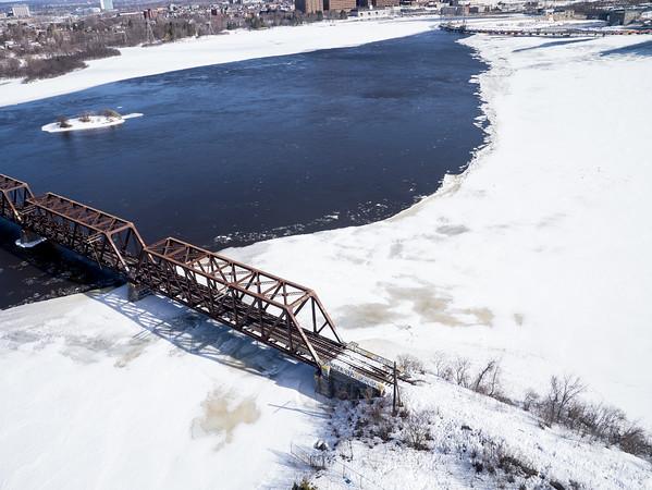 Prince of Wales Railroad Bridge, Ottawa, Ontario.