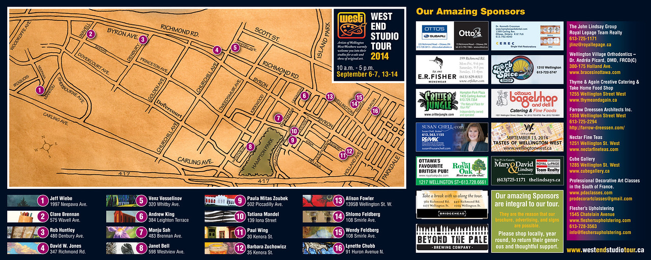 West End Studio Tour 2014 - map
