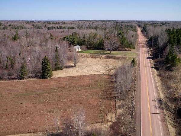 Red asphalt on Highway 6 heading east from Tatamagouche, Nova Scotia.