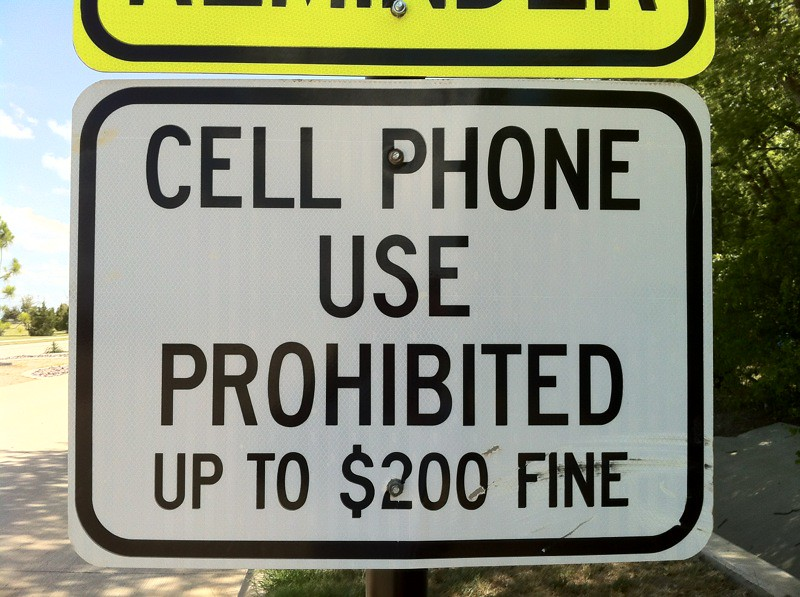 Cell phone use prohibited